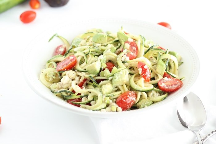 Zucchini, Tomato, and Avocado Salad