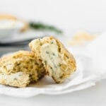 Rosemary Parmesan Scones with Herb Butter