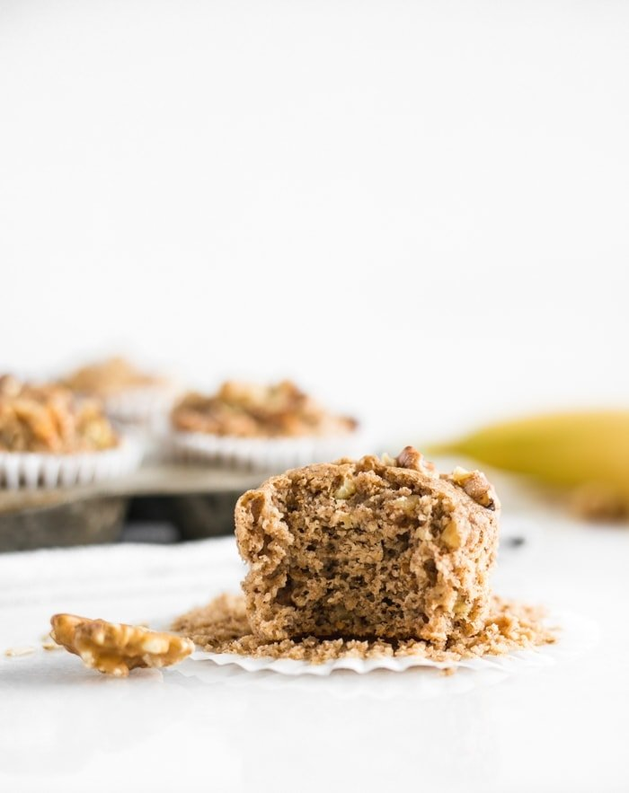 Healthy Blender Gluten Free Banana Nut Muffins