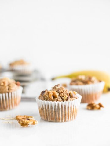 Healthy Blender Gluten Free Banana Nut Muffins