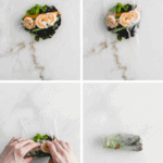 step by step instructions for how to roll a spring roll and how to make homemade spring rolls