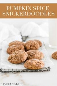 pinterest image for pumpkin snickerdoodles