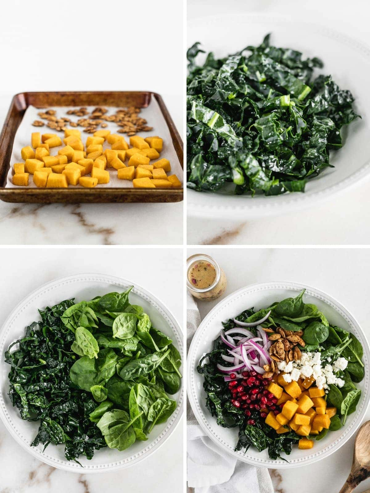 A healthy and delicious fall butternut squash salad that's perfect for something fresh after Thanksgiving! (gluten-free, vegetarian)