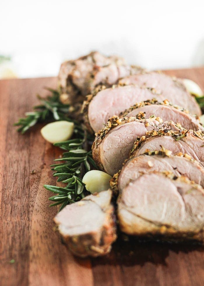 perfect rosemary garlic pork loin