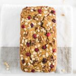 healthy cranberry orange oatmeal bread-
