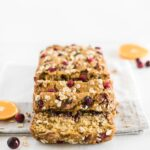 Healthy Cranberry Orange Oatmeal Bread is a quick and delicious recipe for using up fresh cranberries. Try it as a seasonal snack, breakfast, or homemade holiday gift! #bread #cranberry #seasonal #oatmeal