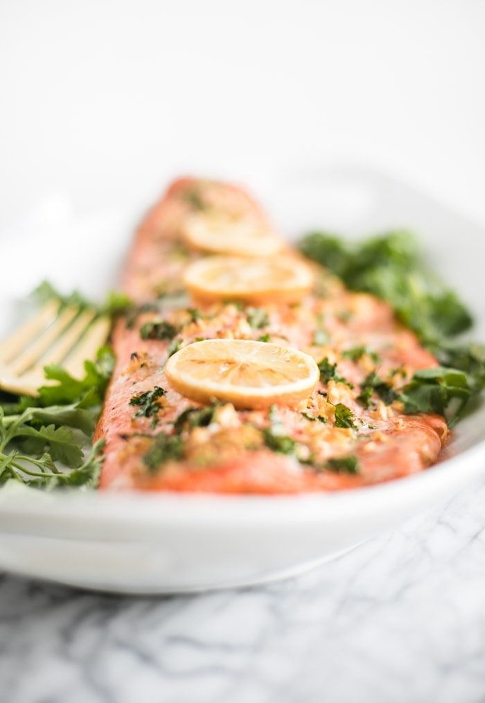 the best garlic cilantro salmon
