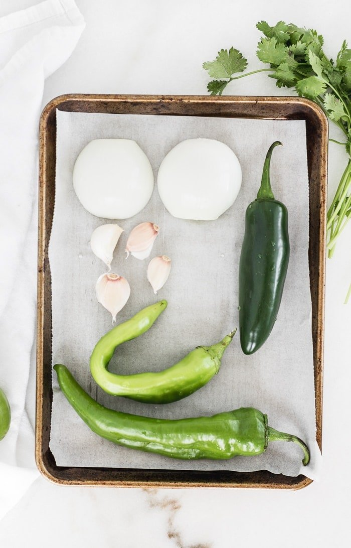 Enchiladas are so much more delicious and healthy with homemade green enchilada sauce made with hatch chiles! (#glutenfree, #dairyfree, #vegan option) | #enchiladasauce #hatchchile #greenchiles| via livelytable.com