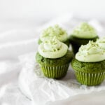 Mini Matcha Green Tea Cupcakes
