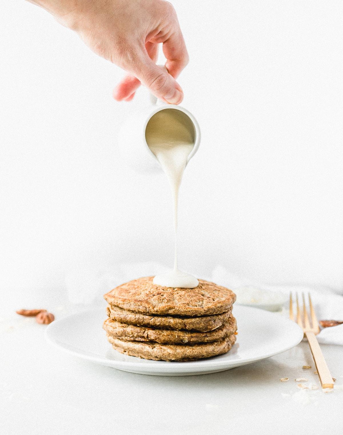 Healthy Carrot Cake Pancakes Recipe