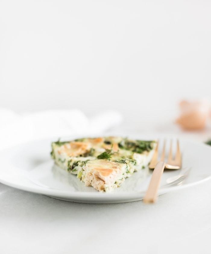 Smoked Salmon and Kale Frittata