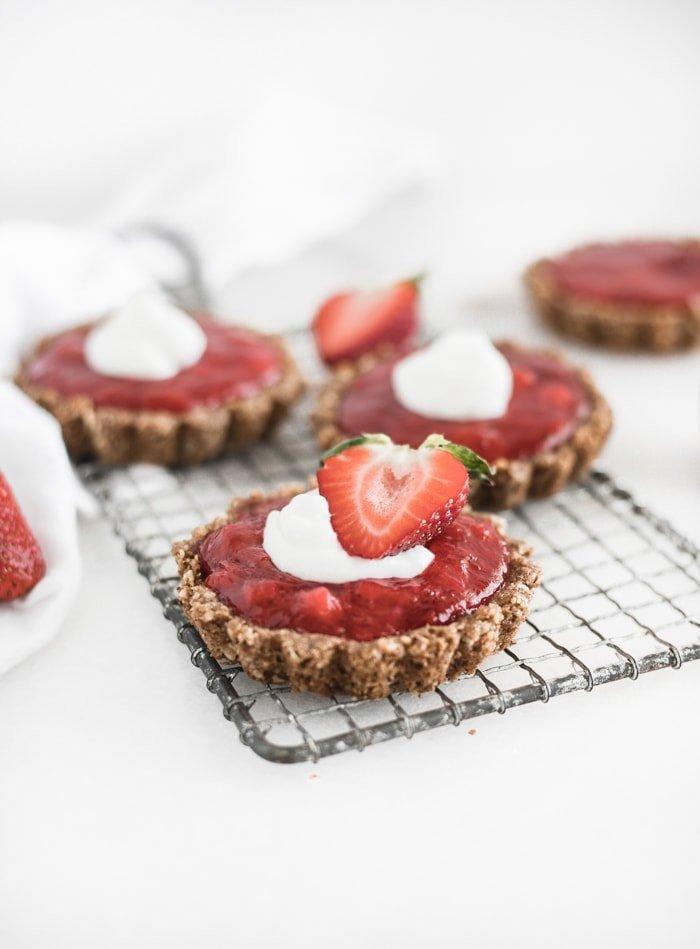 Mini Gluten-Free Strawberry Rhubarb Tarts