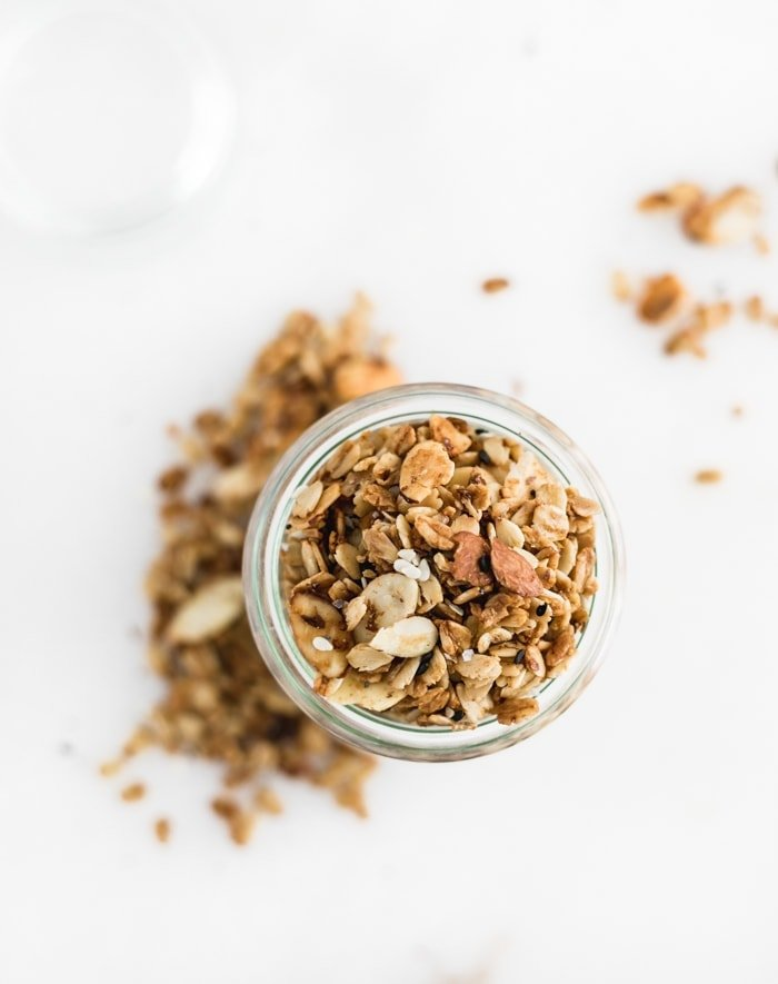 savory granola overhead