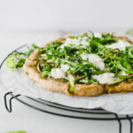 healthy spring greens pizza