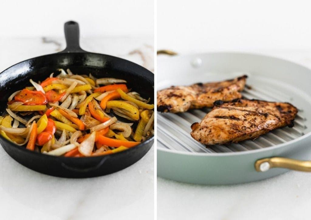 how to make easy chicken fajitas.