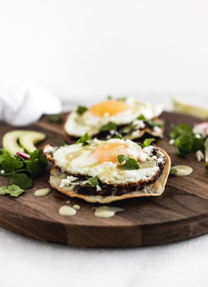 Healthy Huevos Rancheros Tostadas