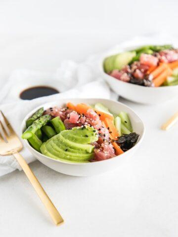 brown rice sushi bowls