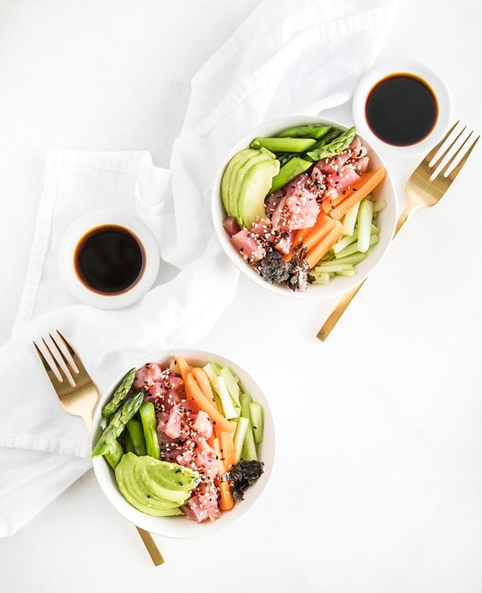 brown rice sushi bowls