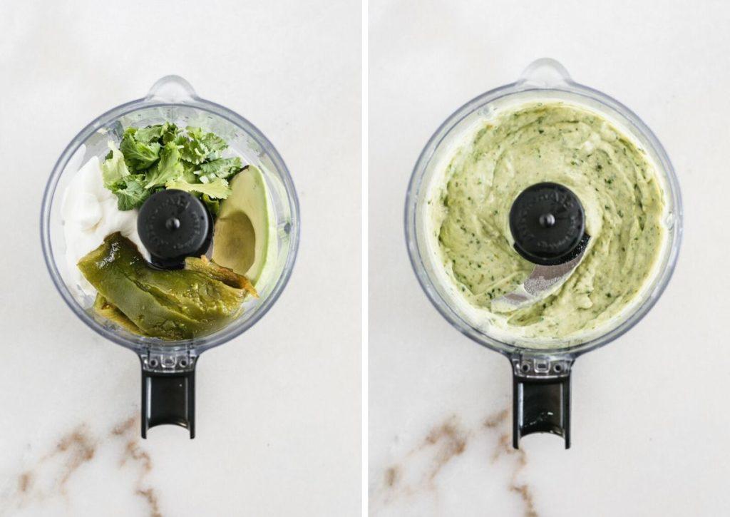 How to make poblano avocado sauce.