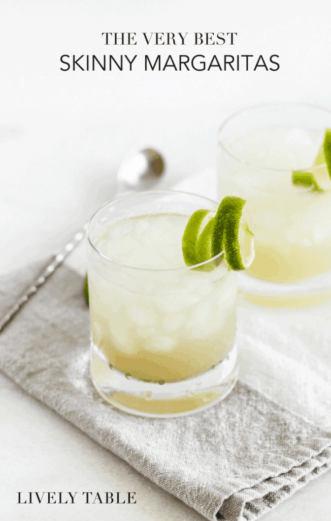 Classically delicious and refreshing, the best skinny margaritas are made with just a few simple ingredients, the way a margarita should be! This top shelf recipe is the only margarita recipe you'll ever need!