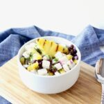 Grilled Pineapple, Black Bean and Jicama Salad