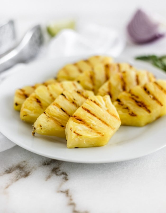 Grilled Pineapple Black Bean Jicama Salsa