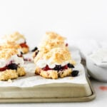 Red White and Blueberry Shortcakes