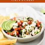 A fresh and authentic Mexican Ceviche recipe inspired by our travels to Cabo San Lucas. It's a delicious appetizer or light dinner! #glutenfree #dairyfree #mexican #ceviche #appetizer