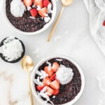 sungold kiwi black rice breakfast porridge