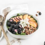 Blackberry Peach Kale Salad