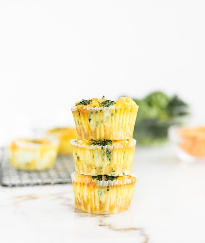 Make-Ahead Broccoli Cheddar Egg Muffins