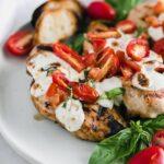easy grilled bruschetta chicken
