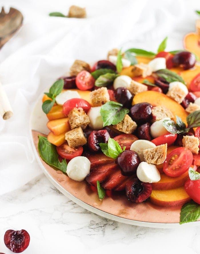 stone fruit panzanella salad