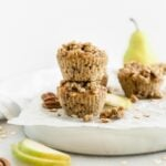 pecan cardamom pear muffins