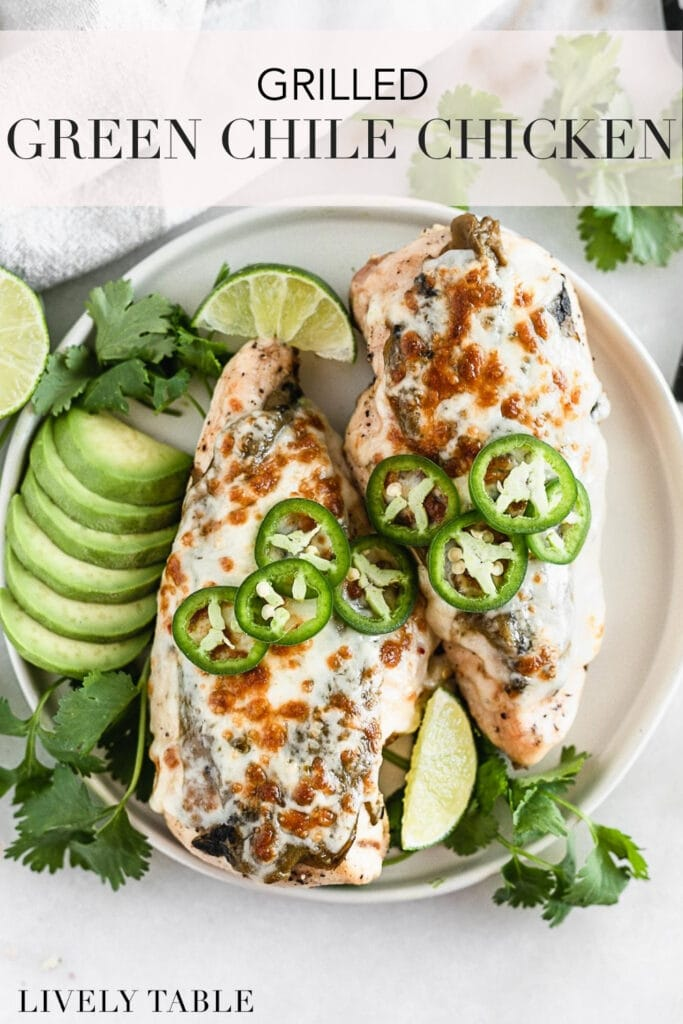 grilled green chile chicken