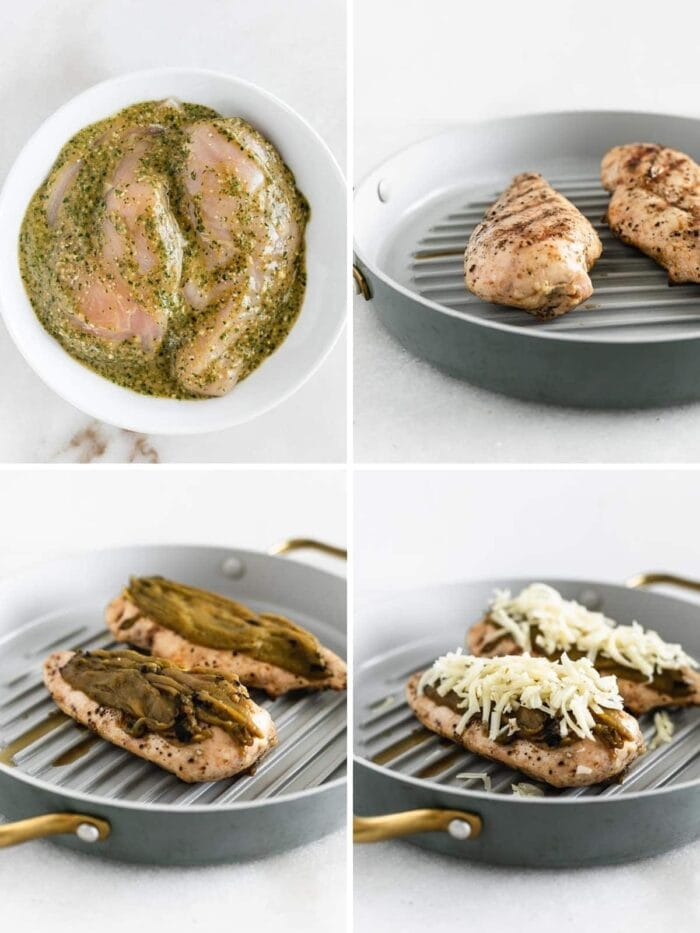 How to make grilled green chile chicken.