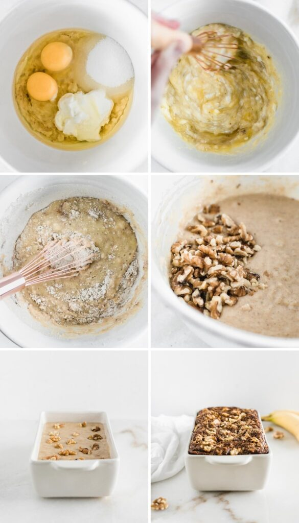 How to make healthy banana nut bread.