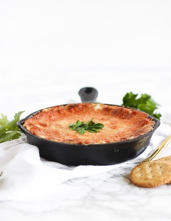 healthier red pepper crab dip