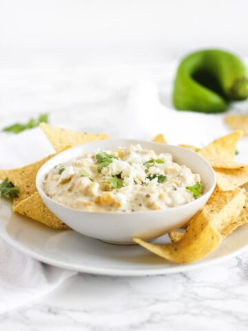 healthy slow cooker green chile corn dip