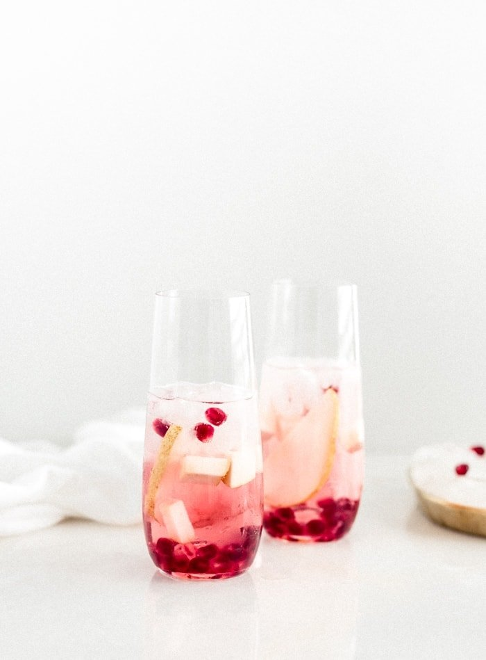 Sparkling Pear and Pomegranate Sangria