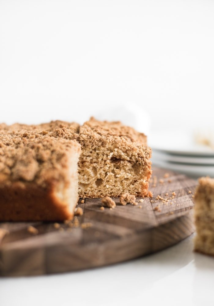 greek yogurt cinnamon crumb coffee cake healthy