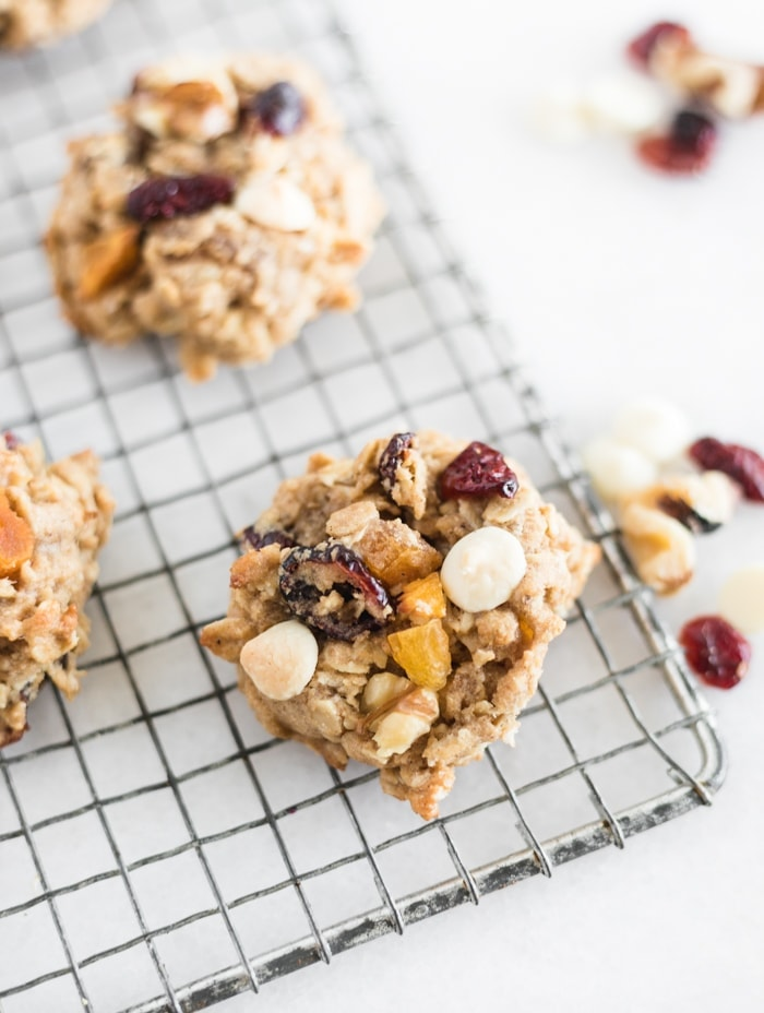 fall harvest oatmeal cookies-
