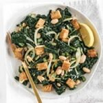 Warm White Bean Kale Salad