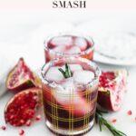 pinterest image for pomegranate ginger smash
