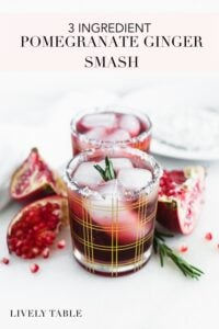 pinterest image for pomegranate ginger smash