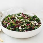 This delicious shredded beet kale salad is loaded with nutritious powerhouses like kale, roasted beets, pumpkin seeds, and dried cherries. It's the perfect winter salad!
