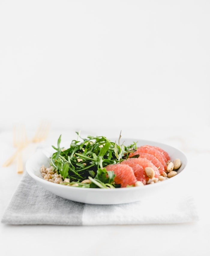 Grapefruit Arugula Farro Salad