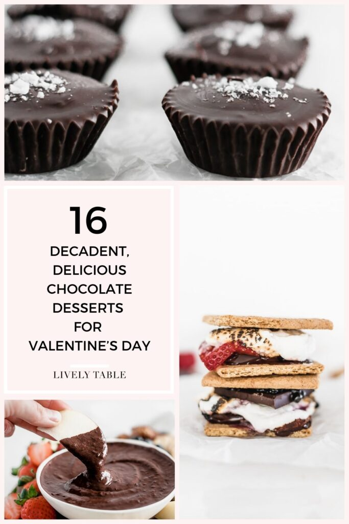 No Valentine's Day is complete without chocolate! Celebrate the day of love with you significant other, your girlfriends, your kids, or yourself with these decadent, delicious chocolate desserts for Valentine's Day!