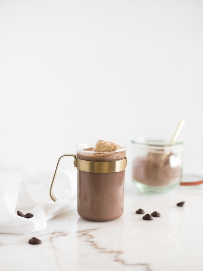 homemade dark hot cocoa mix