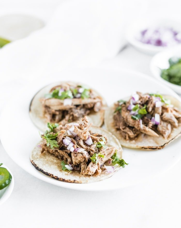 Pulled Quail Street Tacos